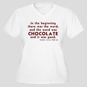 Chocolate Word Women's Plus Size V-Neck T-Shirt