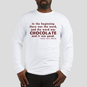 Chocolate Word Long Sleeve T-Shirt