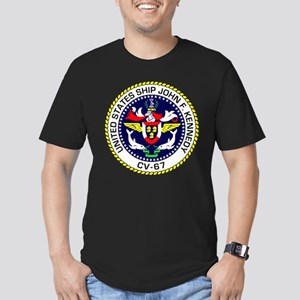 USS John F. Kennedy CV Men's Fitted T-Shirt (dark)