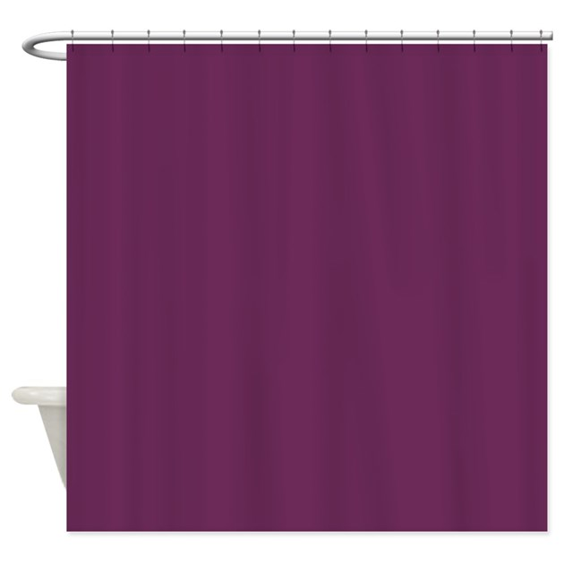 Solid Plum Shower Curtain By TheShowerCurtain