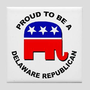 Proud Delaware Republican Tile Coaster