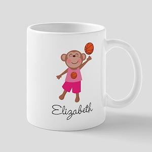 Basketball Girls Monkey Personalized Mugs