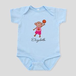 Basketball Girls Monkey Personalized Body Suit