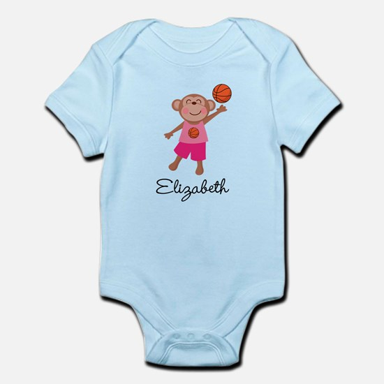 Personalized basketball gifts merchandise personalized basketball girls monkey personalized body suit negle Choice Image