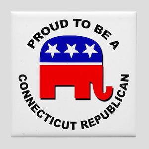 Proud Connecticut Republican Tile Coaster