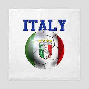 Italy Soccer Ball Queen Duvet