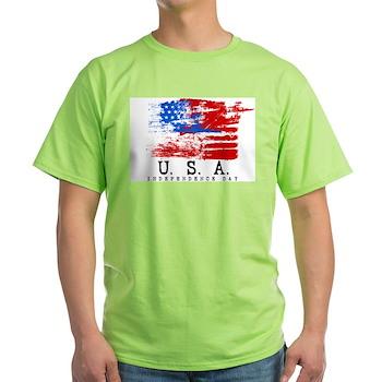Grunge USA Flag Light T-Shirt