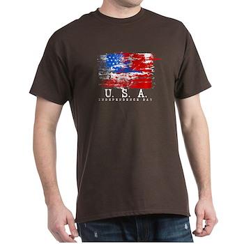 Grunge USA Flag Dark T-Shirt