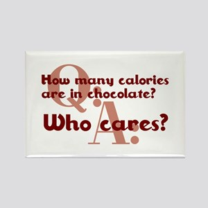 Calories In Chocolate Rectangle Magnet