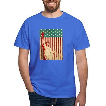 Vintage Style American Flag Dark T-Shirt