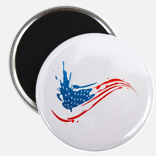 "Abstract Paint American Flag 2.25"" Magnet (10 pack"