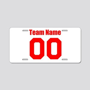 Team Aluminum License Plate