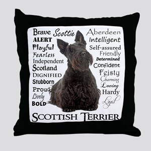 Scottie Traits Throw Pillow