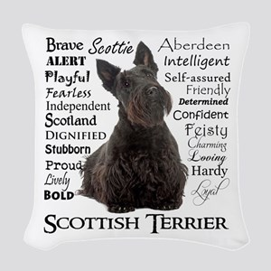 Scottie Traits Woven Throw Pillow