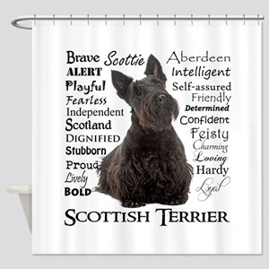 Scottie Traits Shower Curtain