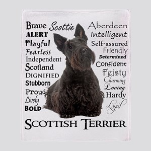 Scottie Traits Throw Blanket