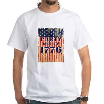 Party Like It's 1776 White T-Shirt
