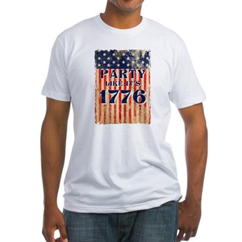 Party Like It's 1776 Fitted T-Shirt