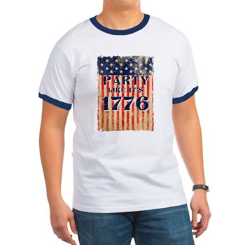 Party Like It's 1776 Ringer T-Shirt