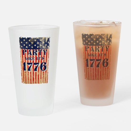 Party Like It's 1776 Drinking Glass