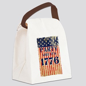 Party Like It's 1776 Canvas Lunch Bag