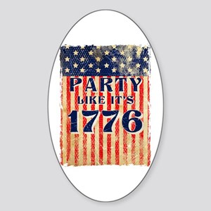 Party Like It's 1776 Oval Sticker