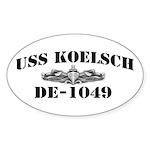 USS KOELSCH Sticker (Oval)