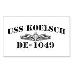 USS KOELSCH Sticker (Rectangle)