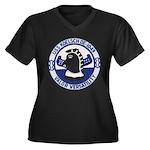 USS KOELSCH Women's Plus Size V-Neck Dark T-Shirt