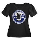 USS KOEL Women's Plus Size Scoop Neck Dark T-Shirt
