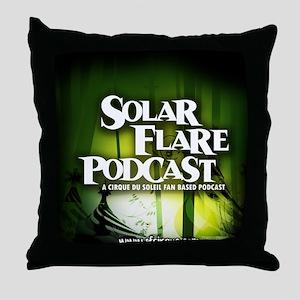 Green Logo Throw Pillow
