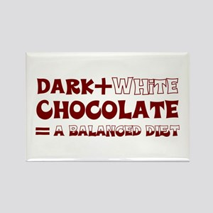 Chocolate Diet Rectangle Magnet