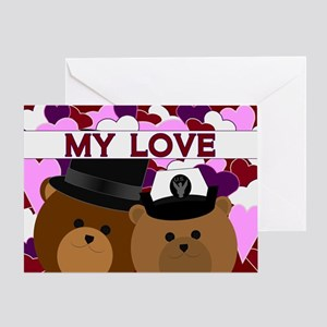Anniversary - To Wife/ Navy Greeting Cards