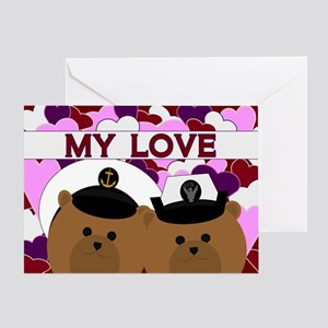 Anniversary - To Wife Navy Enlisted Greeting Cards
