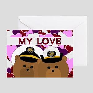 Anniversary - To Husband Coast Greeting Cards