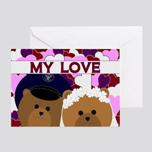 Anniversary - To Husband/air Force Greeting Cards
