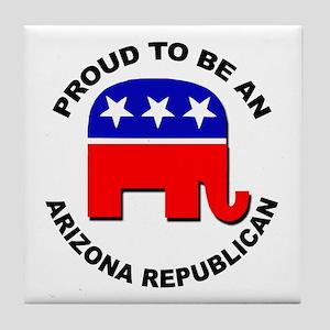 Proud Arizona Republican Tile Coaster