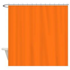 Solid Pumpkin Orange Shower Curtain