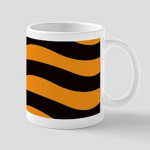 Cantaloupe Black Stripes Mugs
