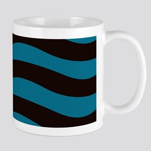 Sleek Blue Waves Mugs