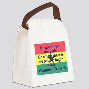 Do Not Follow The Path Canvas Lunch Bag