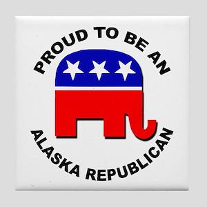 Proud Alaska Republican Tile Coaster