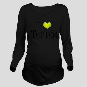 I Heart Tennis Long Sleeve Maternity T-Shirt