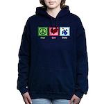 Peace Love Drums Women's Hooded Sweatshirt