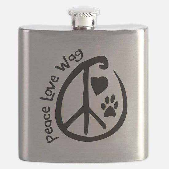 Peace Love Wag Flask