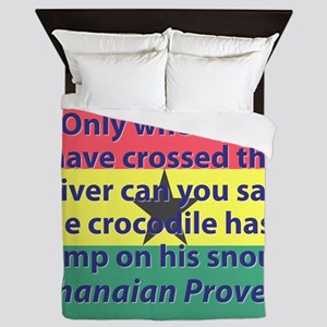 Only When You Have Crossed The River Queen Duvet