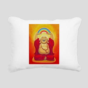 Big Happy Buddha Rectangular Canvas Pillow