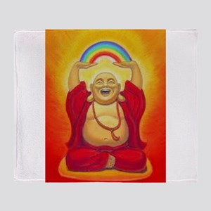 Big Happy Buddha Throw Blanket