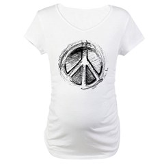 Urban Peace Sign Sketch Shirt
