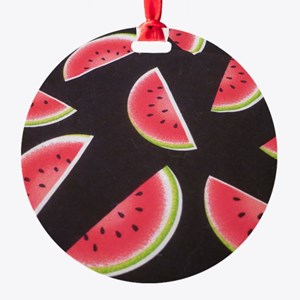 watermelon Round Ornament